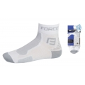 Cyklistické ponožky FORCE1 - bílo-šedé