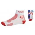 Cyklistické ponožky FORCE1 - bílo - červené
