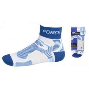 Cyklistické ponožky FORCE2 - bílo-modré