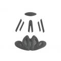 Výstelka přilby FO ROAD šedá
