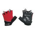 Letní cyklistické rukavice FORCE GEL červené