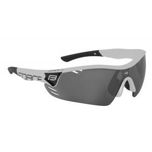 Brýle FORCE RACE PRO bílé, černá laser skla