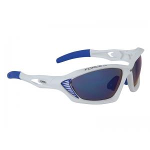 Brýle FORCE MAX bílé + modrá skla