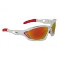 Brýle FORCE MAX bílé + červená skla