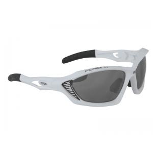 Brýle FORCE MAX bílé + černá skla