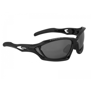 Brýle FORCE MAX černé + černá skla