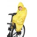 PONCHO-pláštěnka FORCE na dítě v sedačce - žlutá