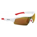 Brýle FORCE RACE bílé, červená skla