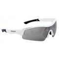 Brýle FORCE RACE bílé, černá laser skla
