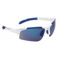 Brýle FORCE SPORT bílé, modrá laser skla