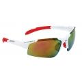 Brýle Force SPORT bílé, červená skla