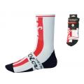 Ponožky WILIER 9cm vysoké, bílo-červeno-černé